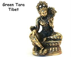 Brons - Miniatyr Green Tara (2 pack)