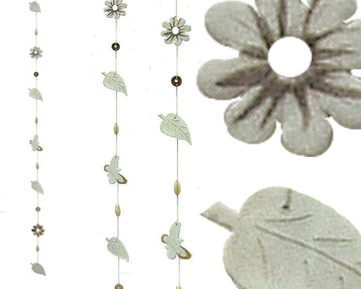 Mobil - Blad & blommor keramik 67cm (12 pack)