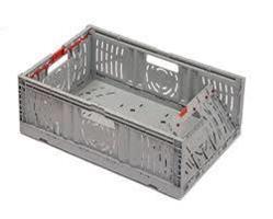 Twistlock sammenl bar kasse 600x400x229mm grå