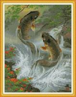 Diamond Painting, 2 fisker 56,6*71,8cm FPK