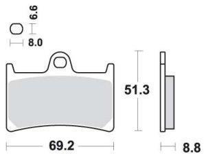 Racing-bremseklosser, R6 03-08, R1 03-06/15-17