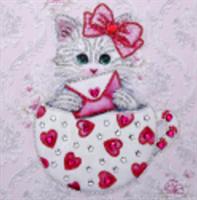 Diamond Painting, Katt rosa 25*25cm (LP8013) AP
