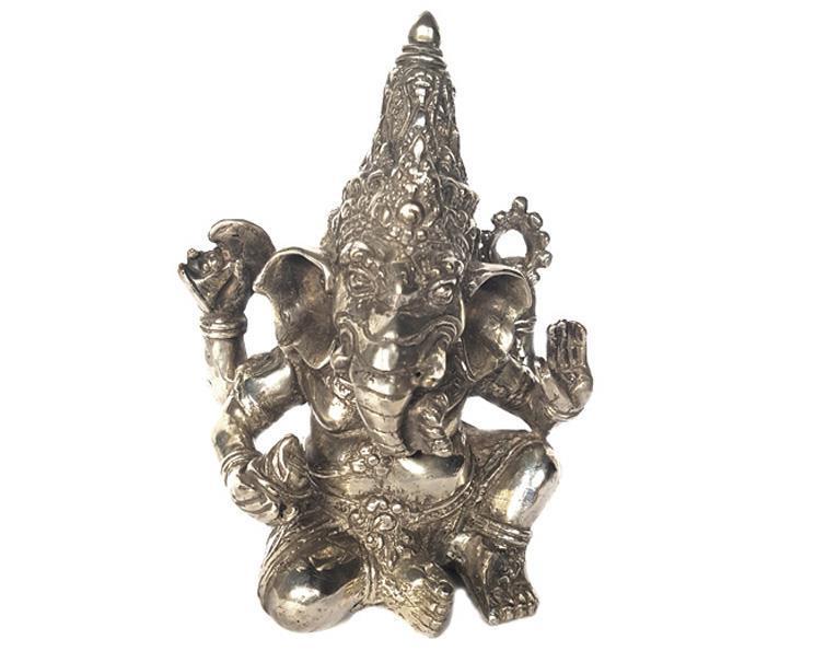 Brons - Silver Ganesha 18cm (2 pack)
