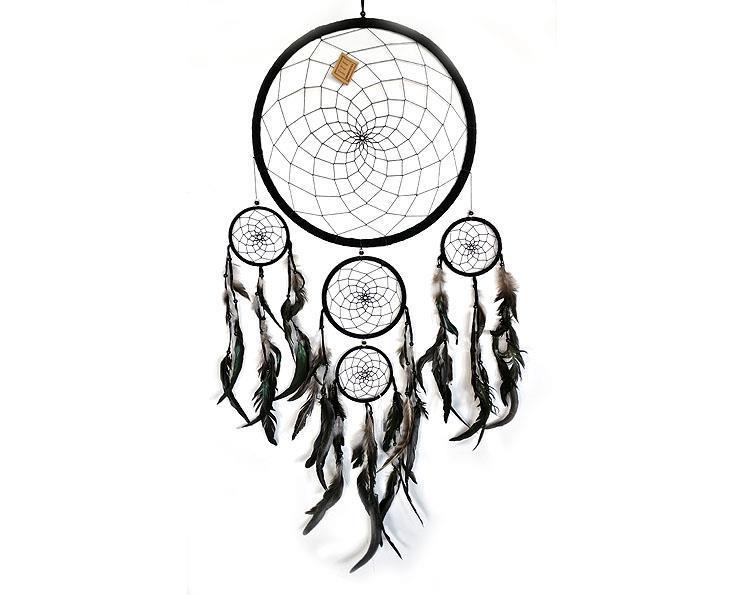 Drömfångare - 5 ringar svart (6 pack)