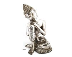 Brons - Silver dream Buddha 9cm (2 pack)