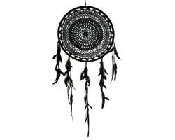 Drömfångare - Makramé 40cm svart/creme mix (6p)