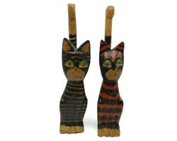 Bali - Katter i trä mix (6 pack)