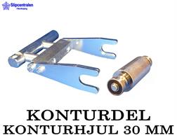 KONTURDEL + KONTURHJUL Ø 30 MM