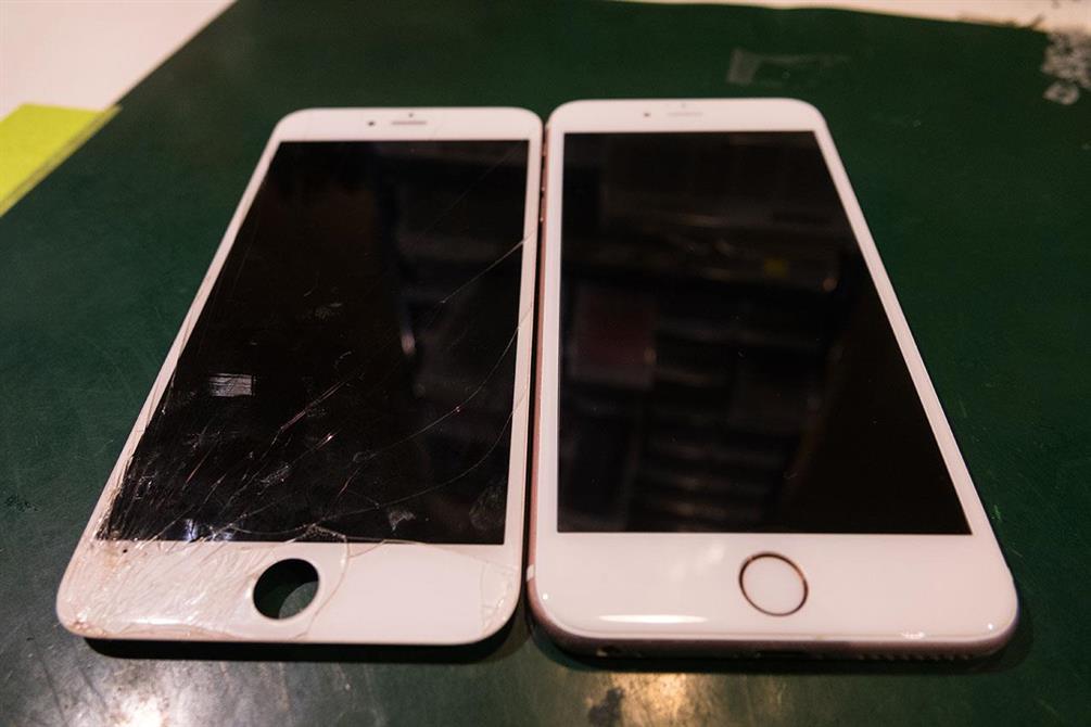 iPhone 6s Skjermbytte som hadde fukt indikator utløst