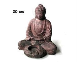 Buddha - Ljusstake brun 20cm (4 pack)