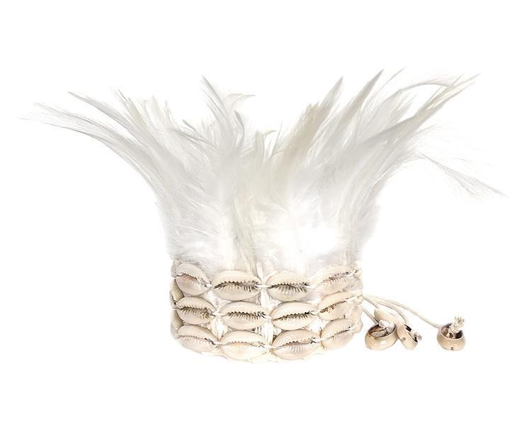 Fjäder armband - Vit (2 pack)