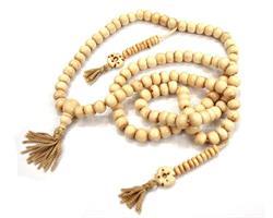 Mala - Halsband Tibet ben vit (10 pack)