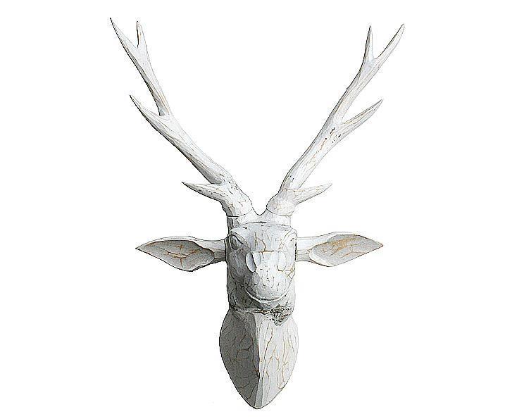 Mask - Vitt rådjur i trä (2 pack)