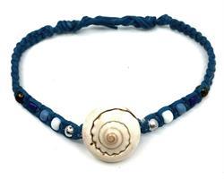 Knytarmband - Snäcka blå (6 pack)