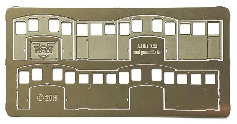 Hytt med gummilister - SJ litt. Z43/Z49.