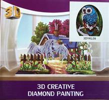 Diamond Painting, 3D Ugle (3DYKL09)
