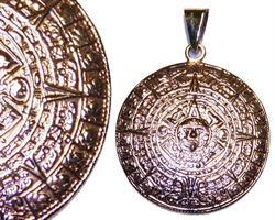 Halsband - Mässing Maya kalender L (3 pack)