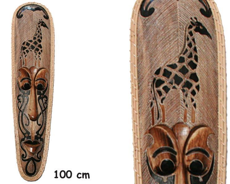 Mask - I trä med giraff (3 pack)