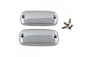 CHROME MASTER CYLINDER COVERS - PLAIN