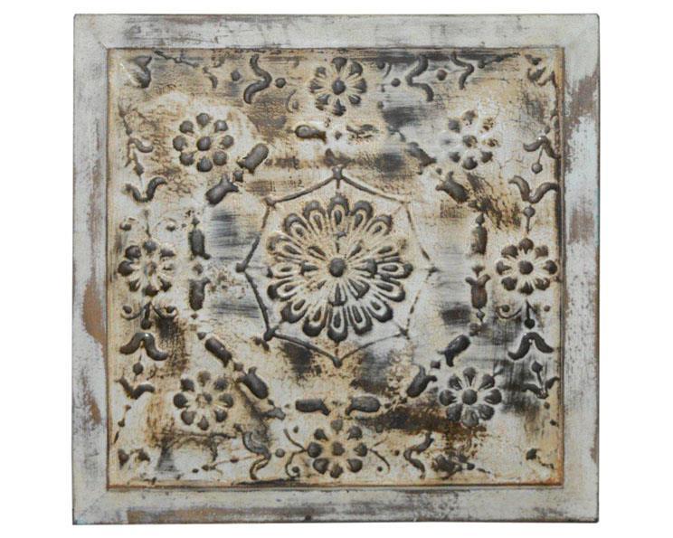 Tempeltavla - Järn & trä vit (4 pack)