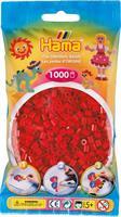 Hama perler Midi, Mørk Rød 207-22 1000stk