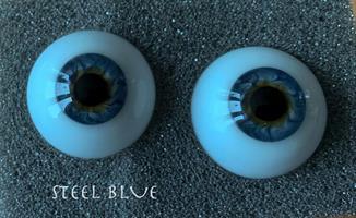 Eyes Alive - Reborn Ögon - Steel Blue 20 mm