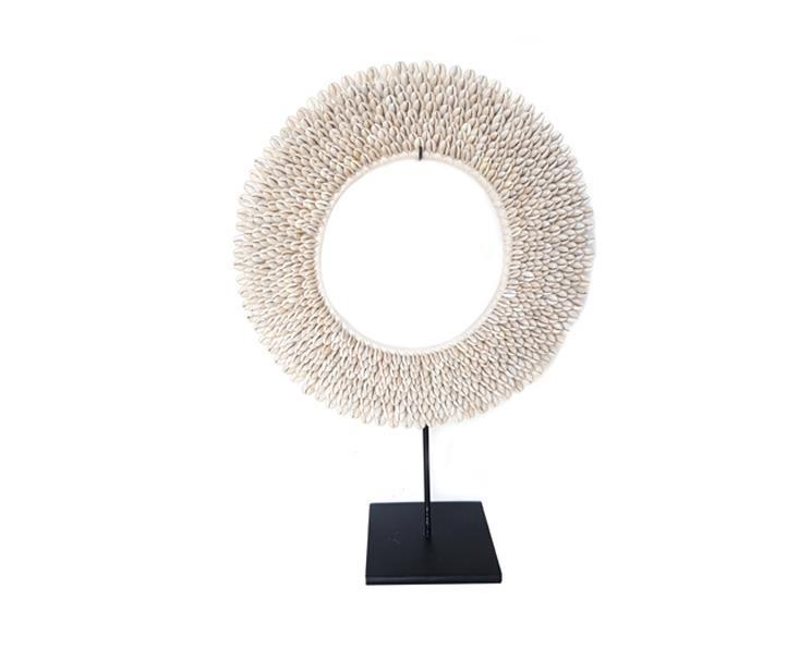 Papua - Halsband cowry rund 31cm (2 pack)