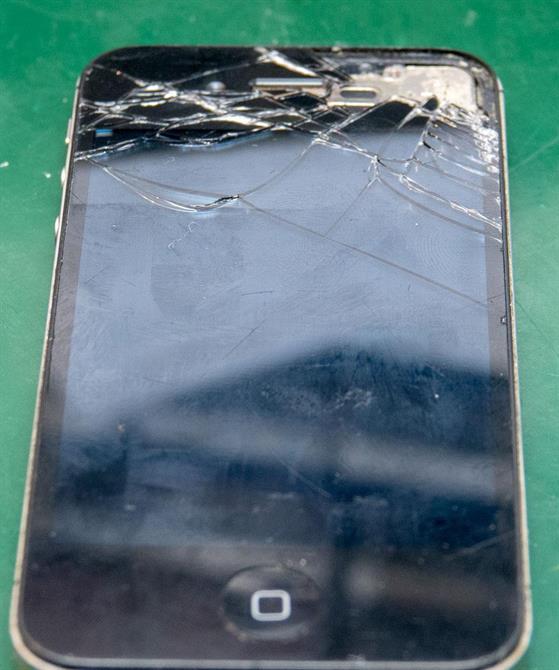 Knust iPhone 4s skjerm