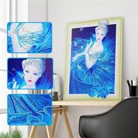 Diamond Painting, Prinsesse ass. perler 40*50cm (SJ1011) AP