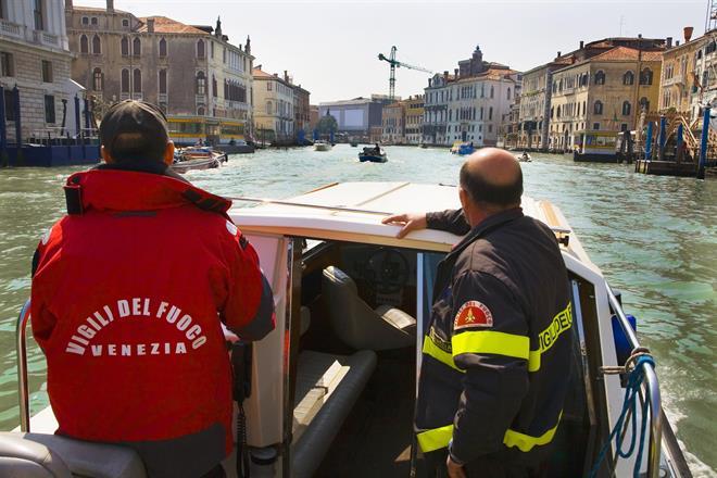 Brandkåren i Venedig.