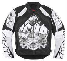 Icon Mens Contra Torrent MC Jacket Black/White XL