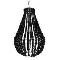 Lampa - Träpärlor svart 40cm (1 pack)