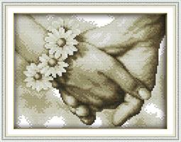Broderi korssting, Hånd i hånd 34*26cm (R891)