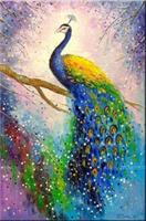 Diamond Painting, Påfugl fargerik 30*50cm FPR