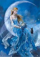 Diamond Painting, Engel blå, 35*25cm DPR