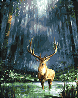 Mal eller nummer, Hjort 40*50cm (YC2187)