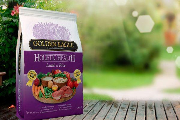 Golden Eagle med Lam og Ris - kun en animalsk proteinkilde