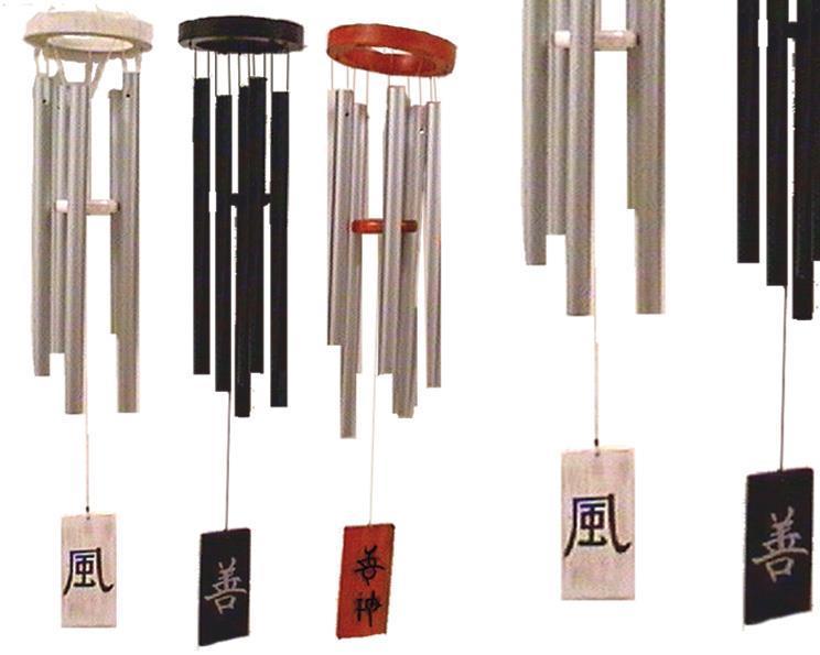 Vindspel - Japanska symboler 60cm natur (2 pack)