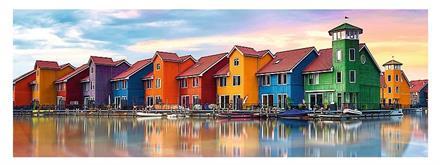 Puslespill Panorama Groningen Holland 97*34cm 1000 brikker