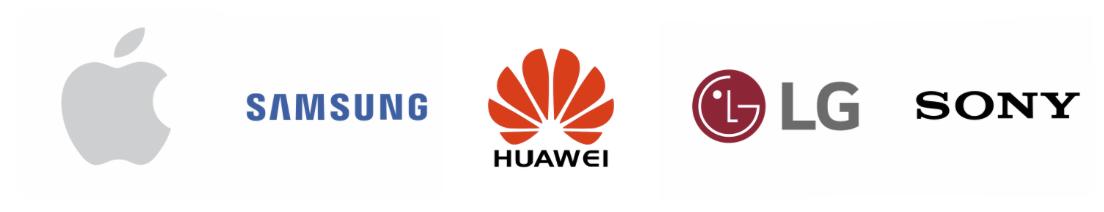 Apple_Samsung_Huawei_LG_Sony