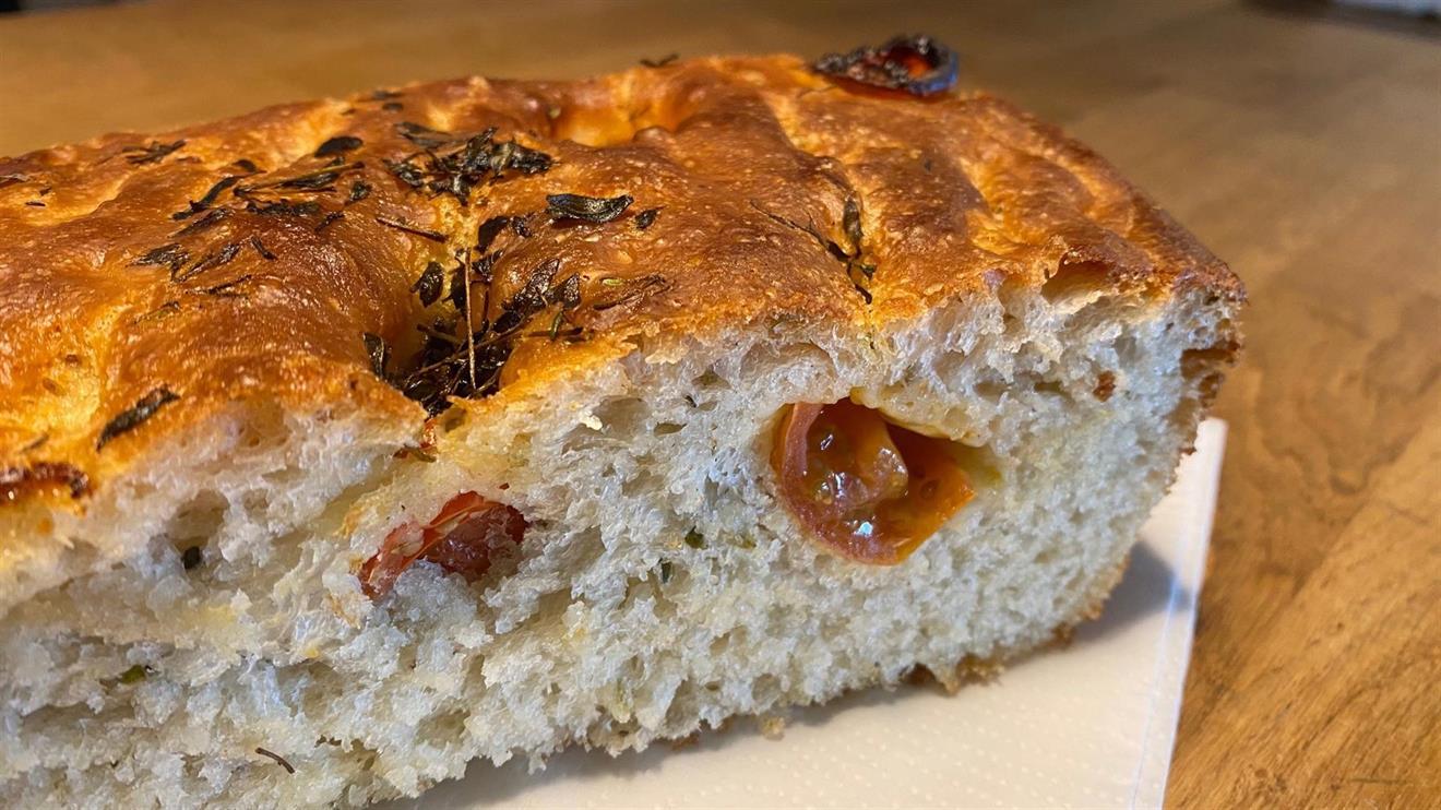 Focaccia-bröd