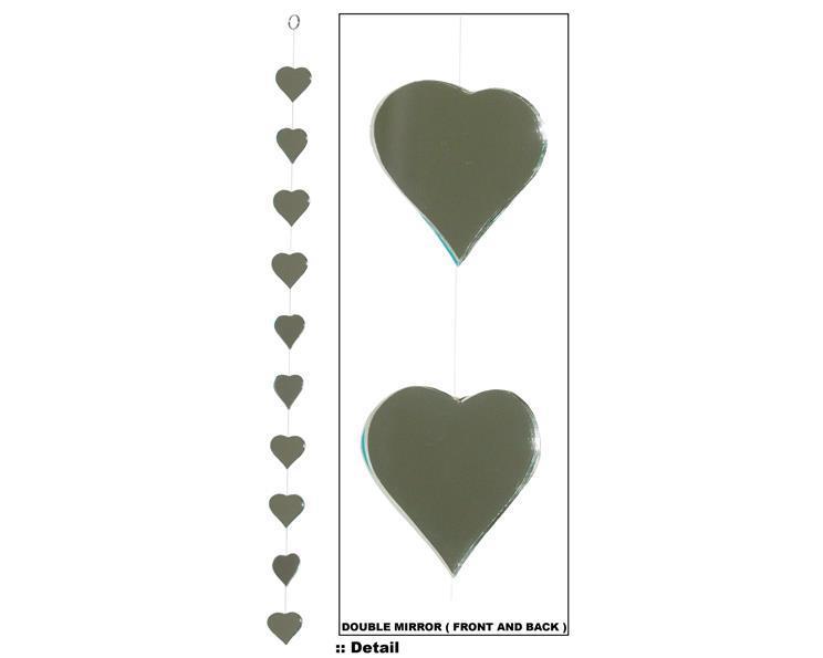 Solfångare -  Spegelhjärtan 87cm (12 pack)