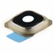 S6 Edge+ Kamera Glass m/ramme - Gull