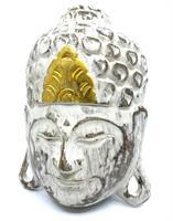 Mask - Buddha vit 20cm (3 pack)