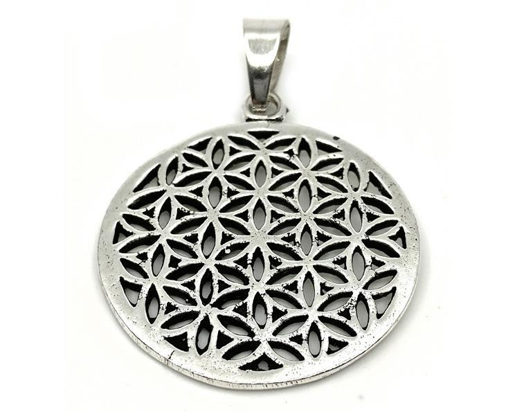 Halsband - Silver brons Flower of Life (4 pack)