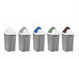 Vippelokk til avfallsbeholder 50L grønn