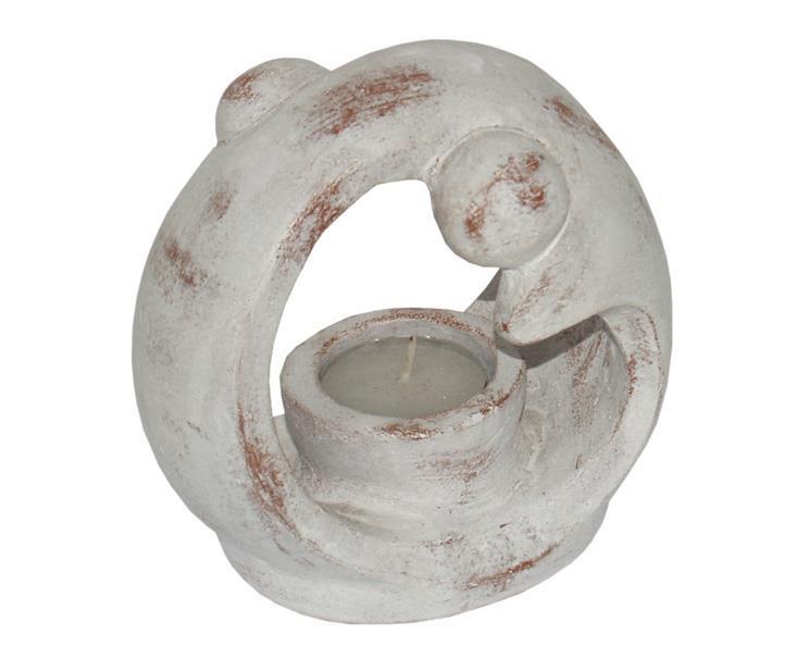 Teljushållare - Terracotta delfiner (6 pack)
