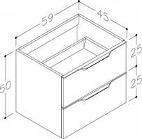 Underskåp bänk Evoke 60 cm