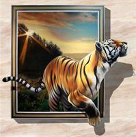 Diamond Painting, Tiger ut av ramme 40*40cm FPK
