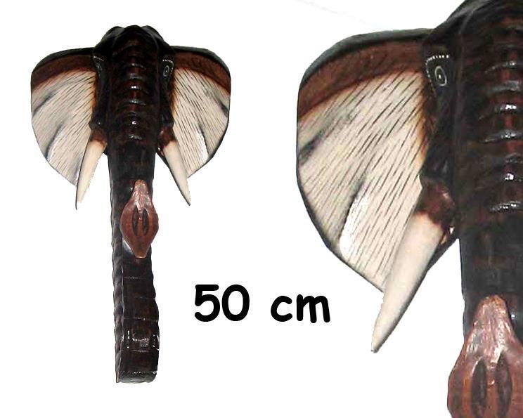 Mask - Elefant 50cm (4 pack)